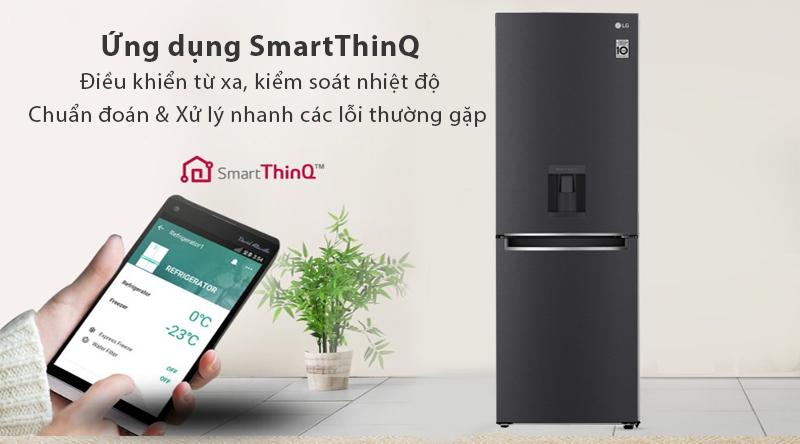 Tủ lạnh LG Inverter 305 lít GR-D305MC-Điều khiển từ xa, chuẩn đoán và xử lý lỗi nhanh với ứng dụng thông minh SmartThinQ