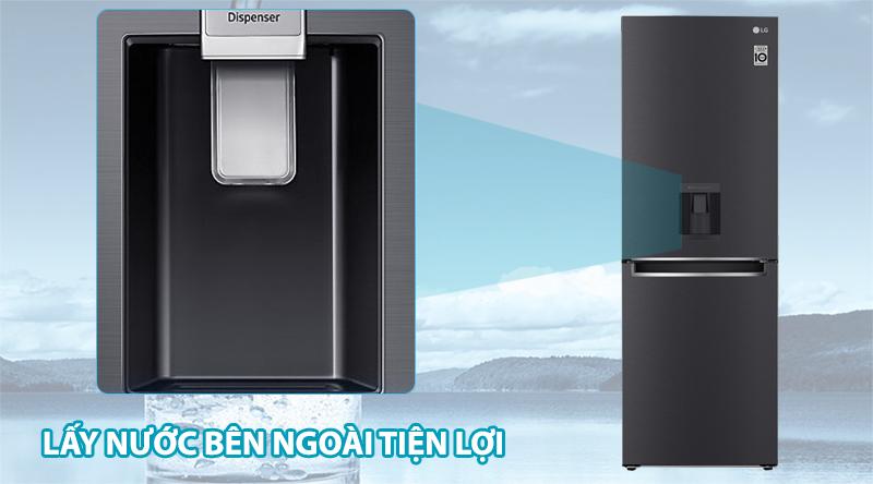Tủ lạnh LG Inverter 305 lít GR-D305MC - Lấy nước phía ngoài