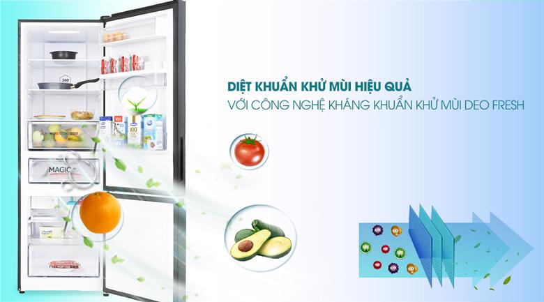 Tủ lạnh Aqua Inverter 320 lít AQR-B379MA(WGB) - DEO Fresh