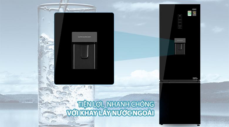 Tủ lạnh Aqua Inverter 320 lít AQR-B379MA(WGB) - Lấy nước bên ngoài
