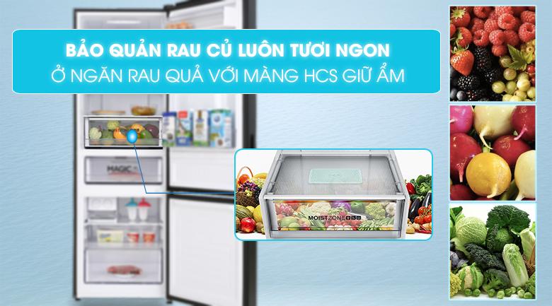 Tủ lạnh Aqua Inverter 320 lít AQR-B379MA(WGB) - Ngăn rau quả