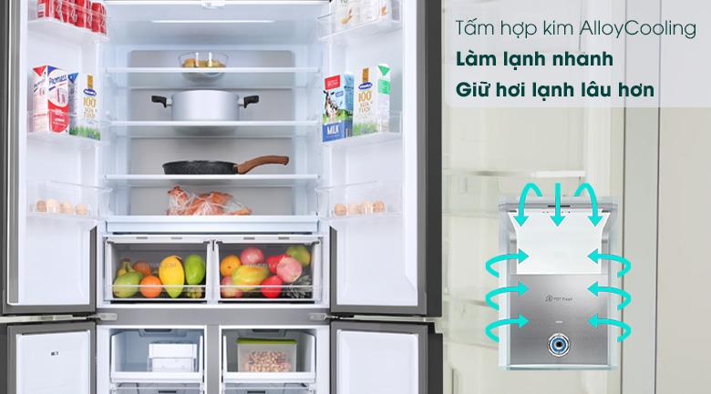 Tủ lạnh Toshiba Inverter 511 lít GR-RF610WE-PGV(22)-XK-Giữ nhiệt tối ưu, bảo quản thực phẩm tươi ngon nhờ tấm hợp kim công nghệ AlloyCooling