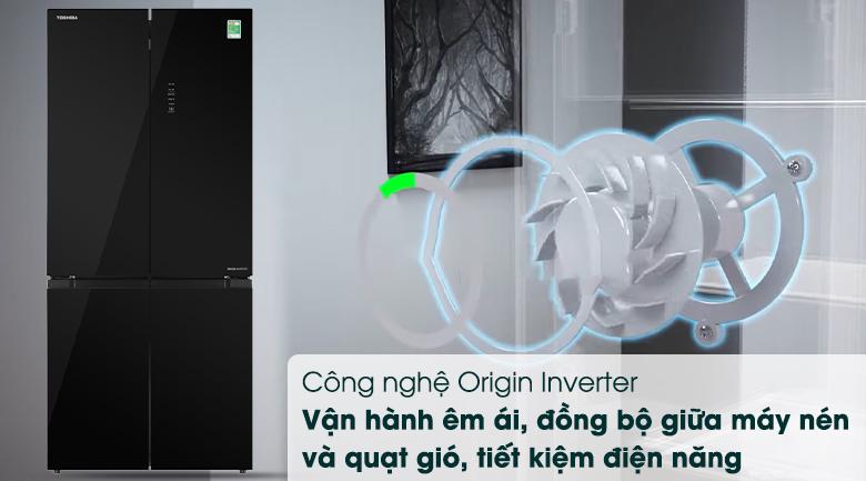 Tủ lạnh Toshiba Inverter 511 lít GR-RF610WE-PGV(22)-XK-Sử dụng tiết kiệm điện, vận hành êm ái và đồng bộ với công nghệ Origin Inverter