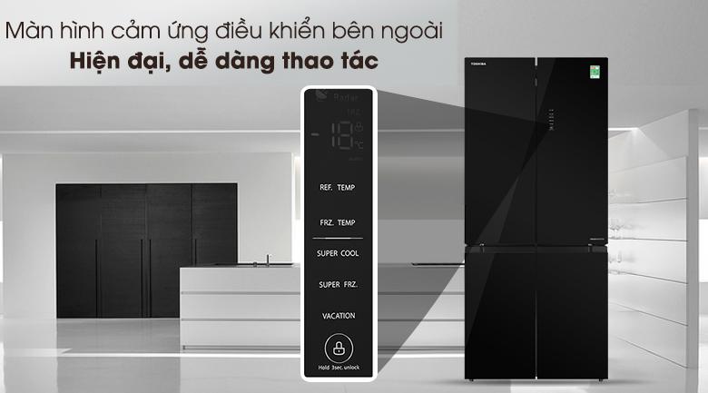 Tủ lạnh Toshiba Inverter 511 lít GR-RF610WE-PGV(22)-XK-Thiết kế màn hình cảm ứng điều khiển bên ngoài