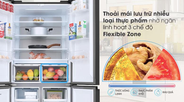 Tủ lạnh Toshiba Inverter 511 lít GR-RF610WE-PGV(22)-XK - Ngăn Flexible Zone