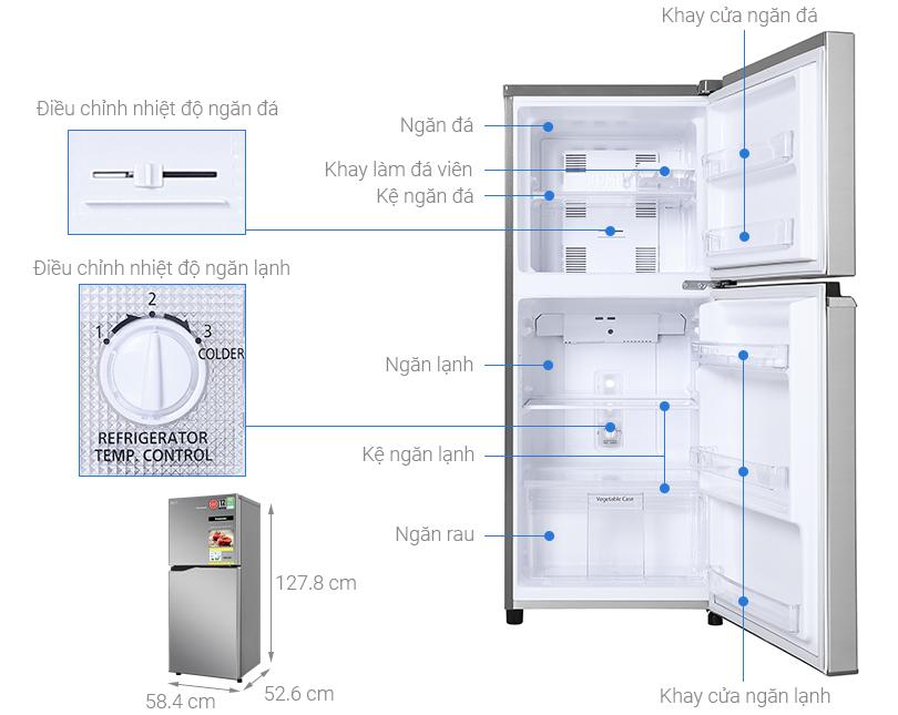 Thông số kỹ thuật Tủ lạnh Panasonic Inverter 170 lít NR-BA190PPVN