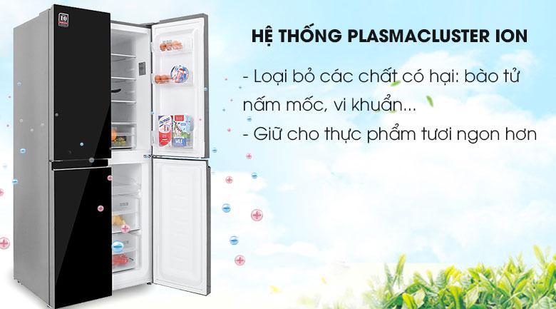 Tủ lạnh Sharp Inverter 401 lít SJ-FXP480VG-BK - Công Nghệ PlasmaCluster
