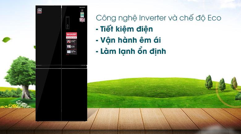 Tủ lạnh Sharp Inverter 401 lít SJ-FXP480VG-BK - Công Nghệ Inverter