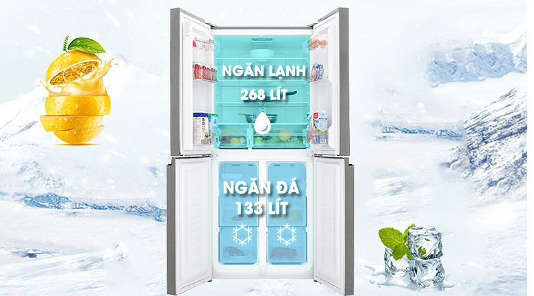 Tủ lạnh Sharp Inverter 401 lít SJ-FXP480VG-BK - Dung Tích