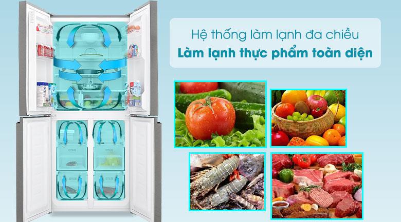 Tủ lạnh Sharp Inverter 401 lít SJ-FXP480VG-BK - Làm Lạnh Đa Chiều