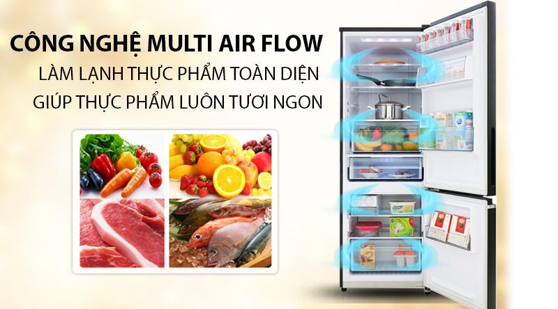 Tủ lạnh Toshiba Inverter 270 lít GR-RB350WE-PMV(30)-BS - Làm lạnh thực phẩm toàn diện với công nghệ đa chiều Multi Air Flow
