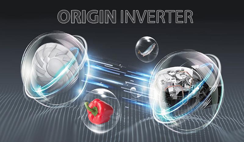 Tủ lạnh Toshiba Inverter 270 lít GR-RB350WE-PMV(30)-BS-Tiết kiệm điện hiệu quả, vận hành êm ái nhờ công nghệ Origin Inverter