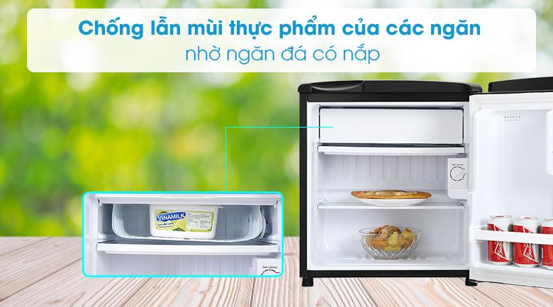 Tủ lạnh Aqua 50 lít AQR-D59FA(BS)-Có khả năng làm đông thực phẩm với ngăn đá riêng biệt