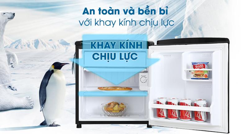 Tủ lạnh Aqua 50 lít AQR-D59FA(BS)-Đáp ứng nhu cầu chứa các thực phẩm