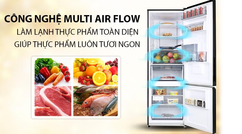 Tủ lạnh Toshiba Inverter 294 lít GR-RB385WE-PMV(30)-BS-Bảo quản lạnh thực phẩm toàn diện nhờ công nghệ Multi Air Flow
