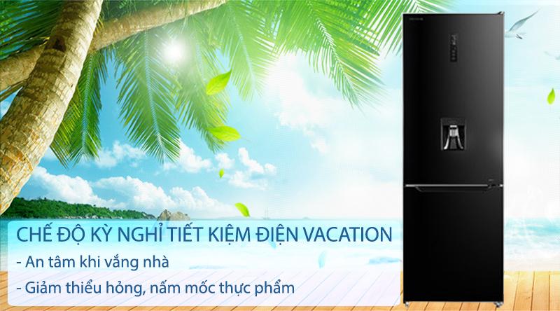Tủ lạnh Toshiba Inverter 294 lít GR-RB385WE-PMV(30)-BS-An tâm khi vắng nhà với chế độ kỳ nghỉ tiết kiệm điện Vacation