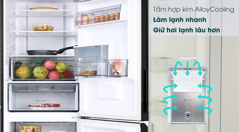 Tủ lạnh Toshiba Inverter 294 lít GR-RB385WE-PMV(30)-BS-Làm lạnh nhanh chóng nhờ hợp kim Alloy Cooling