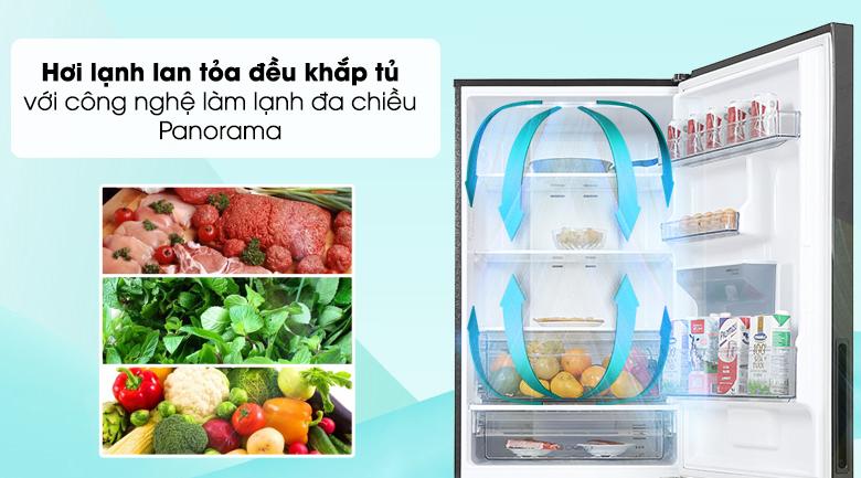 Tủ lạnh Panasonic Inverter 417 lít NR-BX471GPKV - công nghệ làm lạnh đa chiều Panorama