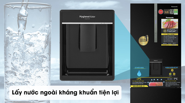Tủ lạnh Panasonic Inverter 417 lít NR-BX471GPKV - lấy nước ngoài
