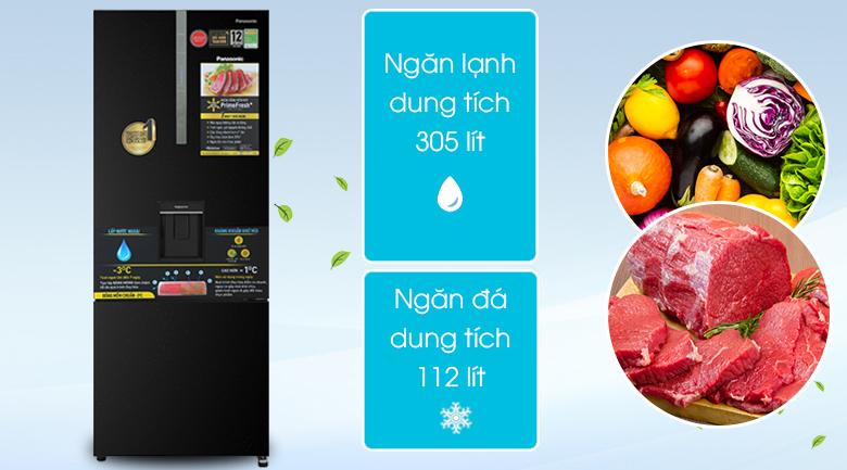 Tủ lạnh Panasonic Inverter 417 lít NR-BX471GPKV - dung tích 471L