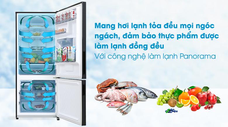 Tủ lạnh Panasonic Inverter 377 lít NR-BX421GPKV - Làm lạnh đa chiều Panorama
