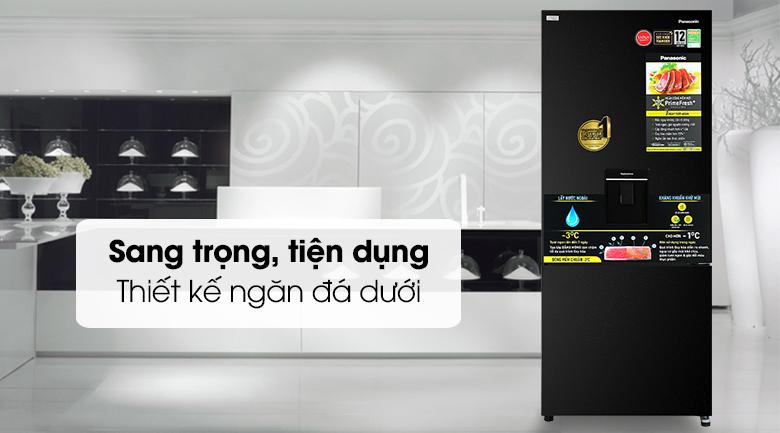 Tủ lạnh Panasonic Inverter 377 lít NR-BX421GPKV - Thiết kế màu đen