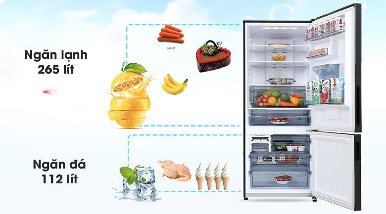 Tủ lạnh Panasonic Inverter 377 lít NR-BX421GPKV - Dung tích 377L