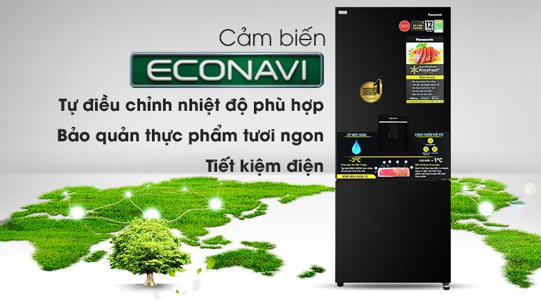Tủ lạnh Panasonic Inverter 377 lít NR-BX421GPKV - econavi
