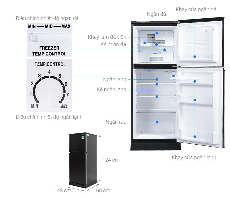 Tủ lạnh Aqua 130 lít AQR-T150FA(BS)