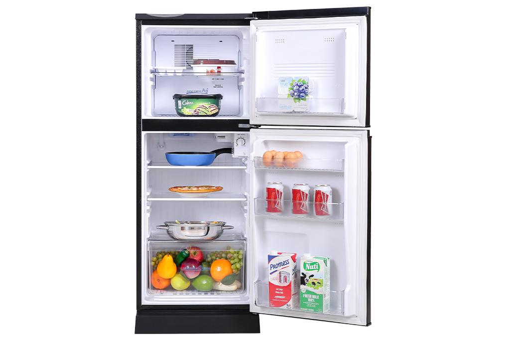 Tủ lạnh Aqua 130 lít AQR-T150FA(BS)-Dung tích 130 lít, phù hợp cho gia đình ít người (1 - 2 người)