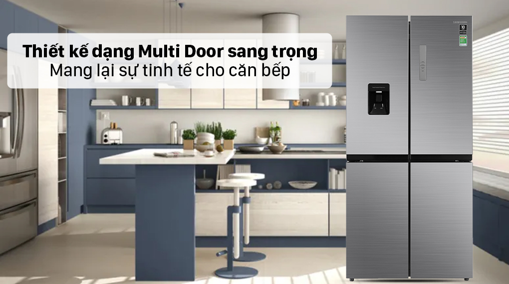 Tủ lạnh Samsung Inverter 488 lít RF48A4010M9/SV - Thiết kế hiện đại
