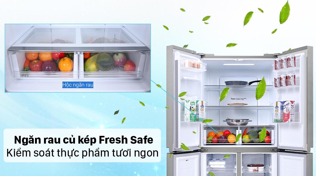 Tủ lạnh Samsung Inverter 488 lít RF48A4010M9/SV - Ngăn rau củ giữ ẩm