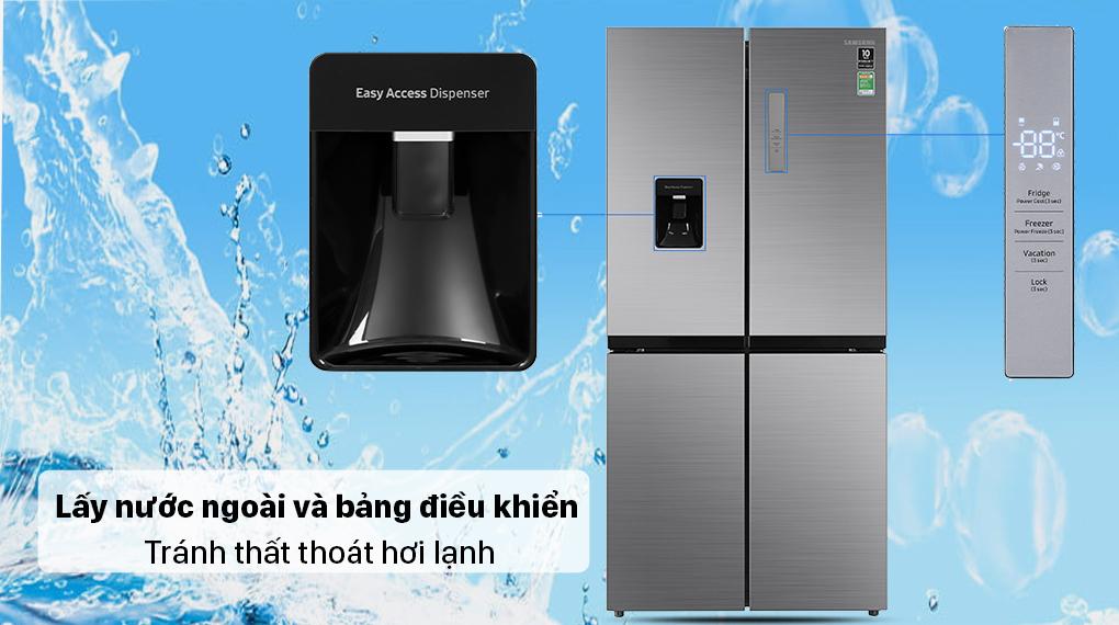 Tủ lạnh Samsung Inverter 488 lít RF48A4010M9/SV - Lấy nước ngoài