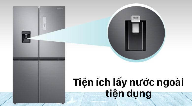 Tủ lạnh Samsung Inverter 488 lít RF48A4010M9/SV - Lấy nước ngoài tiện lợi
