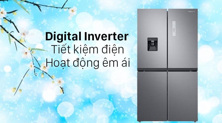 Tủ lạnh Samsung Inverter 488 lít RF48A4010M9/SV - Tiết kiệm điện