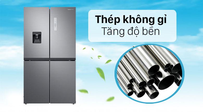 Tủ lạnh Samsung Inverter 488 lít RF48A4010M9/SV - Thép không gỉ bền lâu