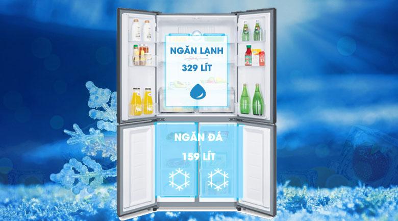 Tủ lạnh Samsung Inverter 488 lít RF48A4010M9/SV - Đựng được nhiều loại đồ ăn