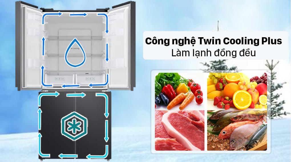 Tủ lạnh Samsung Inverter 488 lít RF48A4000B4/SV - Công nghệ 2 dàn lạnh độc lập Twin Cooling Plus