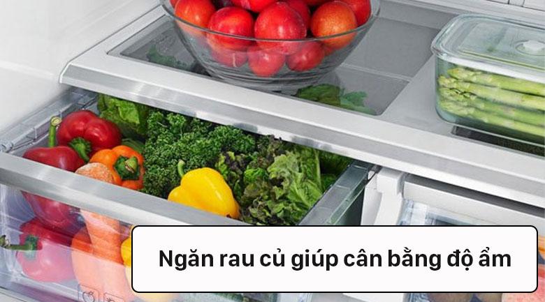 Tủ lạnh Samsung Inverter 488 lít RF48A4000B4/SV - Ngăn rau củ rộng chứa được nhiều thực phẩm