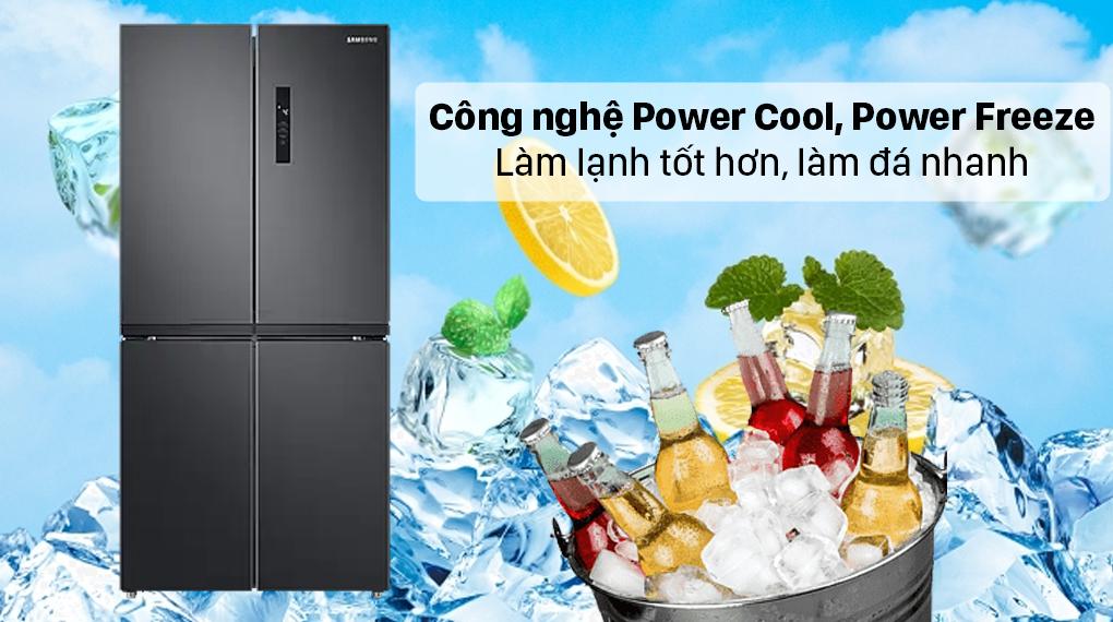 Tủ lạnh Samsung Inverter 488 lít RF48A4000B4/SV - Công nghệ làm lạnh Power Cool, làm đá Power Freeze