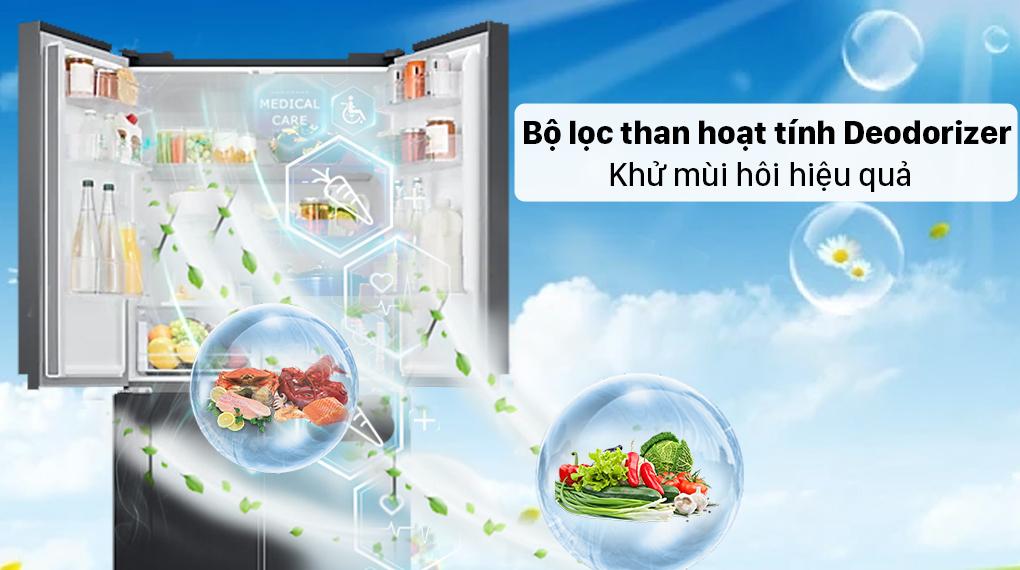 Tủ lạnh Samsung Inverter 488 lít RF48A4000B4/SV - Bộ lọc than hoạt tính Deodorizer