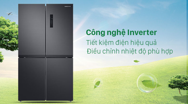 Tủ lạnh Samsung Inverter 488 lít RF48A4000B4/SV - Tiết kiệm điện