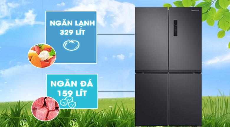Tủ lạnh Samsung Inverter 488 lít RF48A4000B4/SV - Dung tích lớn