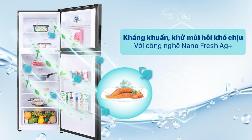 Tủ lạnh Aqua Inverter 211 lít AQR-T238FA(FB) - Công nghệ Nano Fresh Ag+