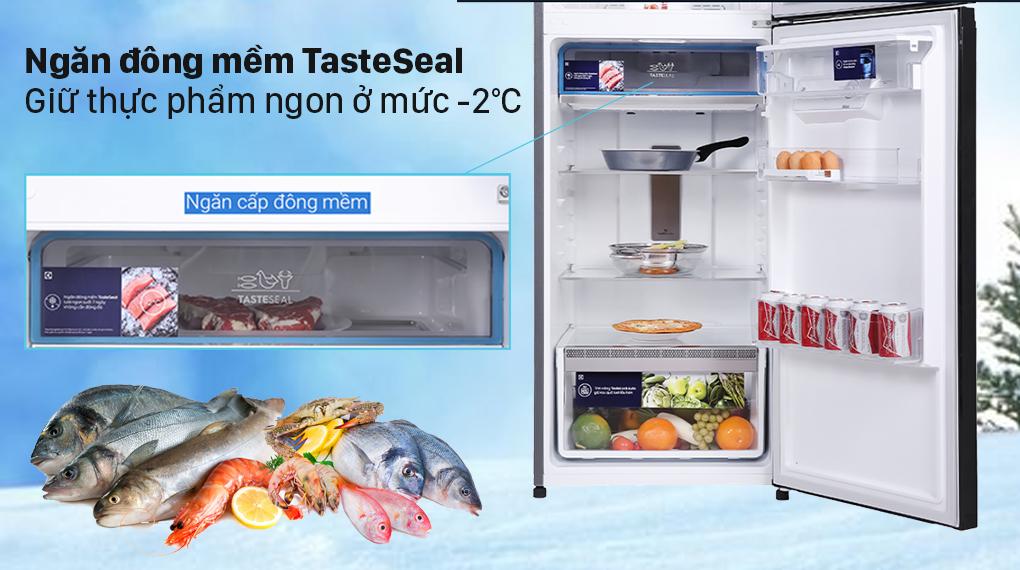 Tủ lạnh Electrolux Inverter 312 lít ETB3440K-H - Ngăn đông mềm TasteSeal