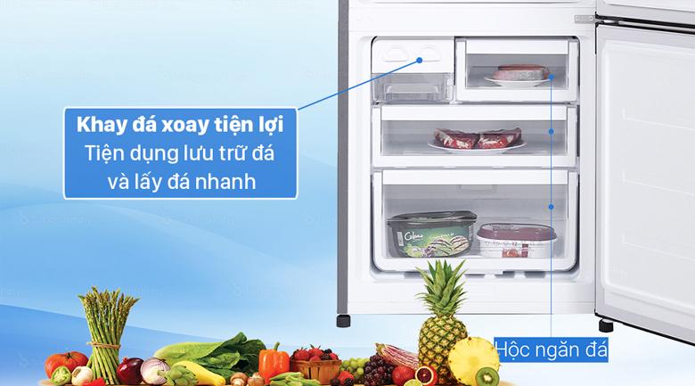 Tủ lạnh Electrolux Inverter 308 lít EBB3442K-H - Hộp đá xoay tiện dụng