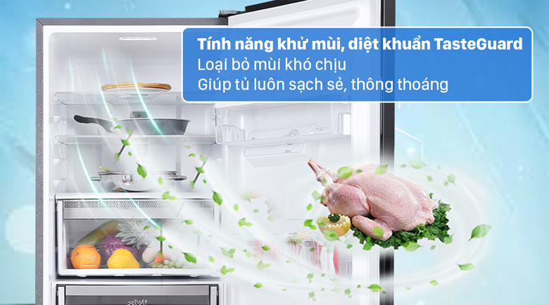 Tủ lạnh Electrolux Inverter 308 lít EBB3442K-H - Giảm mùi hôi khó chịu