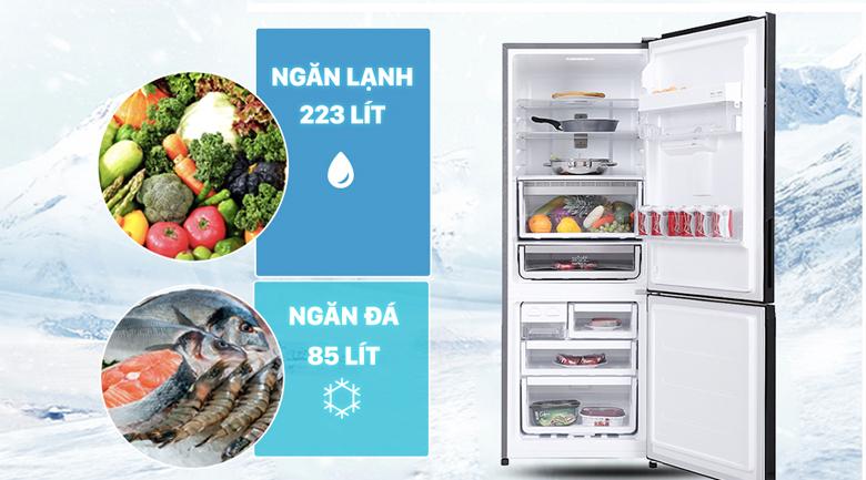 Tủ lạnh Electrolux Inverter 308 lít EBB3442K-H - Dung tích phù hợp cho gia đình từ 3-4 người