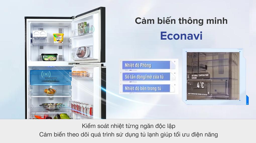 Tủ lạnh Panasonic Inverter 234 lít NR-TV261BPKV với cảm biến thông minh Econavi
