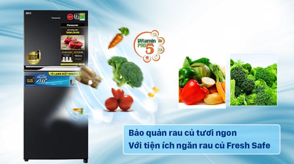 Tủ lạnh Panasonic Inverter 234 lít NR-TV261BPKV có tiện ích ngăn rau củ Fresh Safe